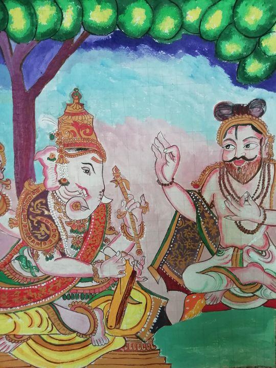 Ganesha and guru - Artiste