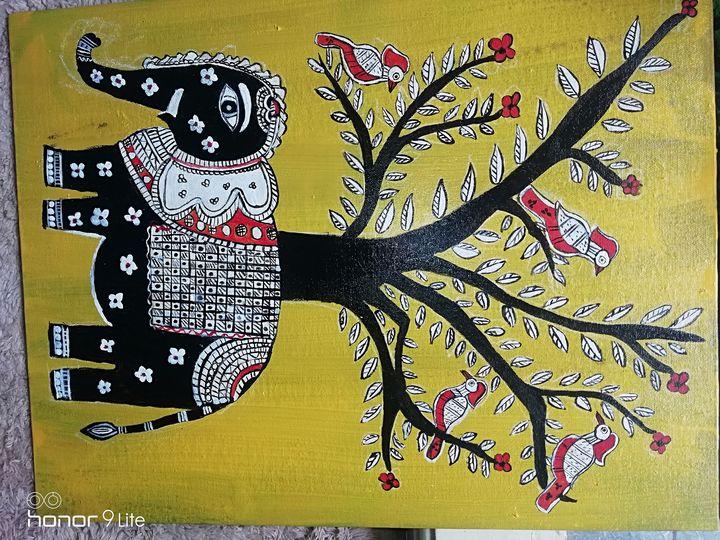 Elephant Gonda paintings - Artiste