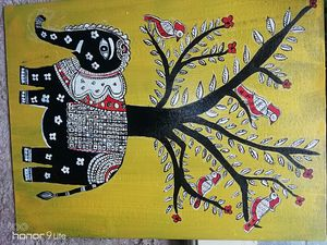 Elephant Gonda paintings