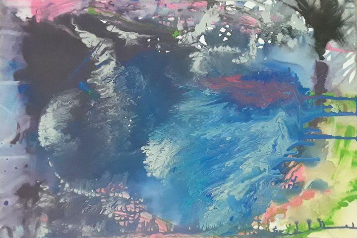 Bleeding Blue - AbstractArtByLena