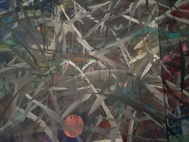 Midnight Moon - AbstractArtByLena