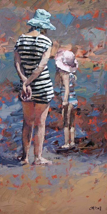 Mother And Daughter III - ClaireMcCallArt