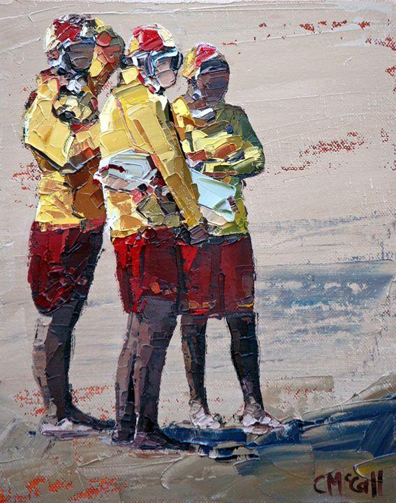 Three Lifeguards - ClaireMcCallArt