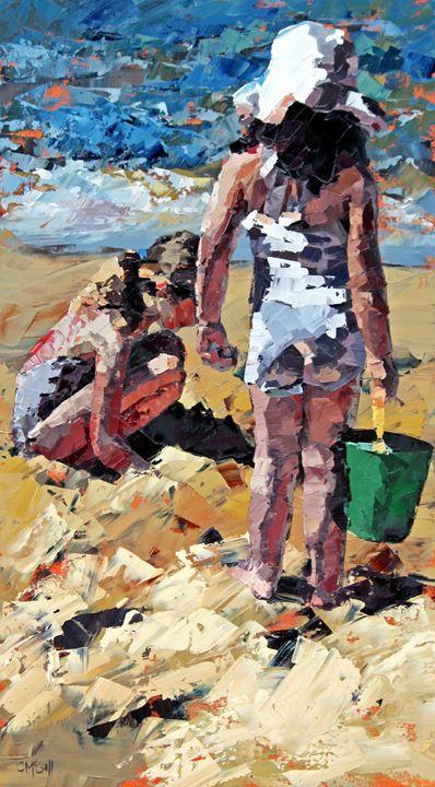 Sandcastles II - ClaireMcCallArt