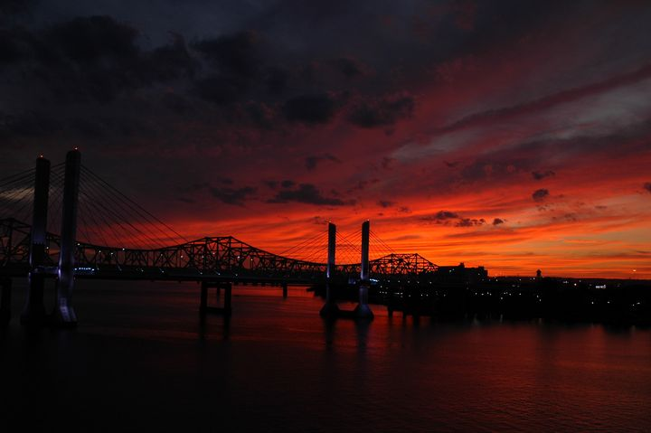 Ohio river sunset - Edgyfotogeek