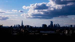 London skyline from Greenwich Park