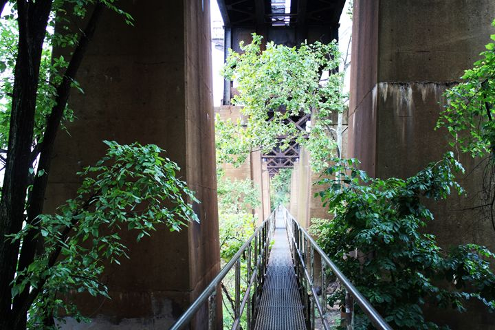 Catwalk under bridge - Ashley Schwoebel