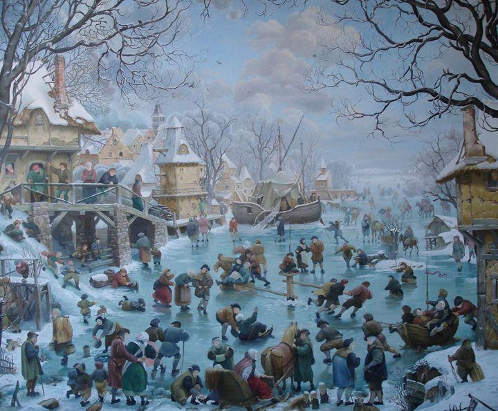 Люди на льду - mikhalchyk
