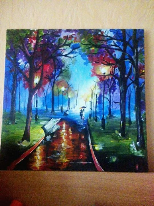 fall evening abstract art - impressive art