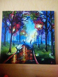 fall evening abstract art