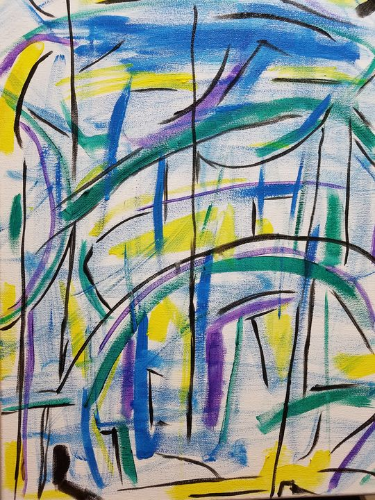 Rain under the over pass - Katrice Martin Art And Designs
