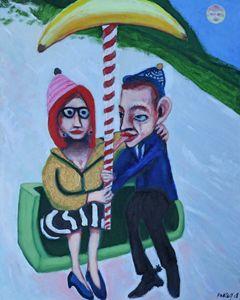 Gillard and Abbott sharing a ride