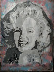 Marylin Monroe acrylic on canvas