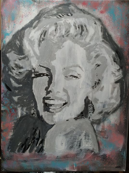 Marylin Monroe acrylic on canvas - Mediki