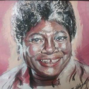 Ester Rolle Acrylic Portrait