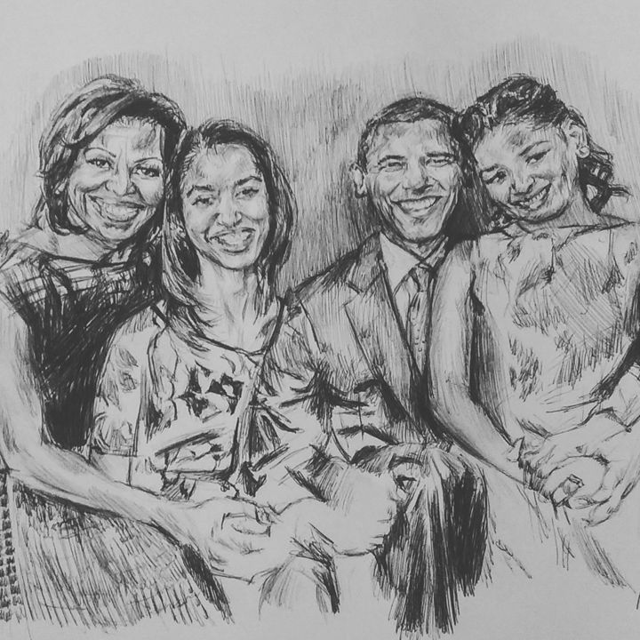 The OBAMA Family Portrait - Billy Jackson