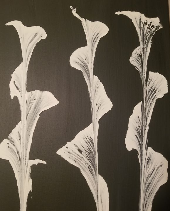 Black and white flowers - Candice's creations
