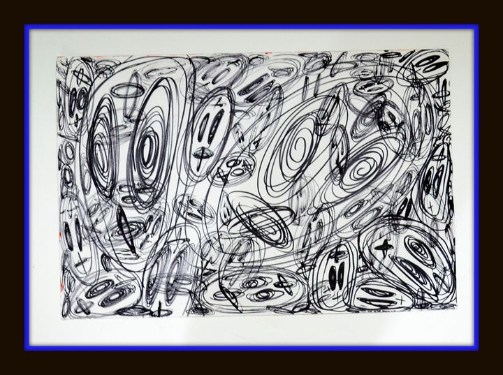 So Confused Sketch on Paper - Abstract Creations
