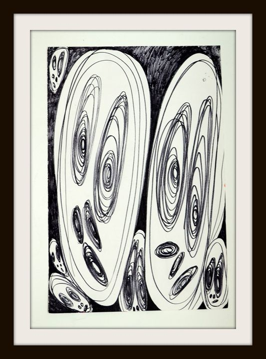 Wondering with fear... Drawing - Abstract Creations