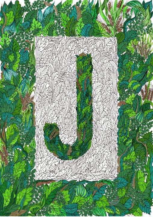 Letter J (Jardin) - Krughoff