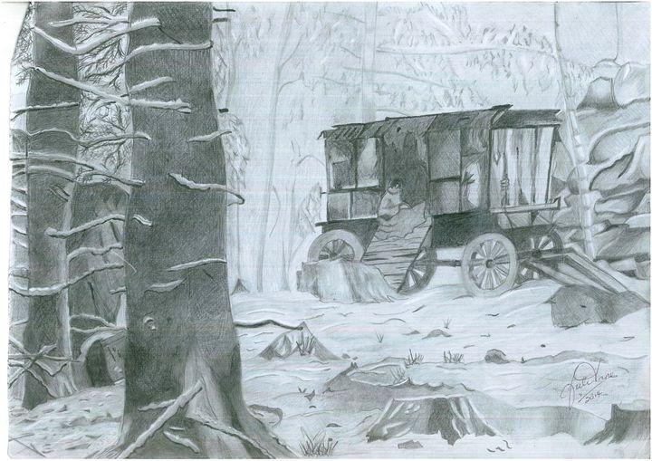 Wagon in the woods - Julianne