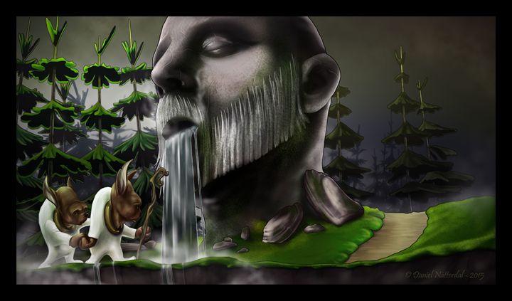 Magic Mountain Of The Buried Giant - Mixed Art