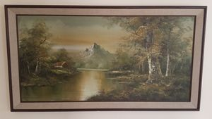 Mountain view - large oil painting