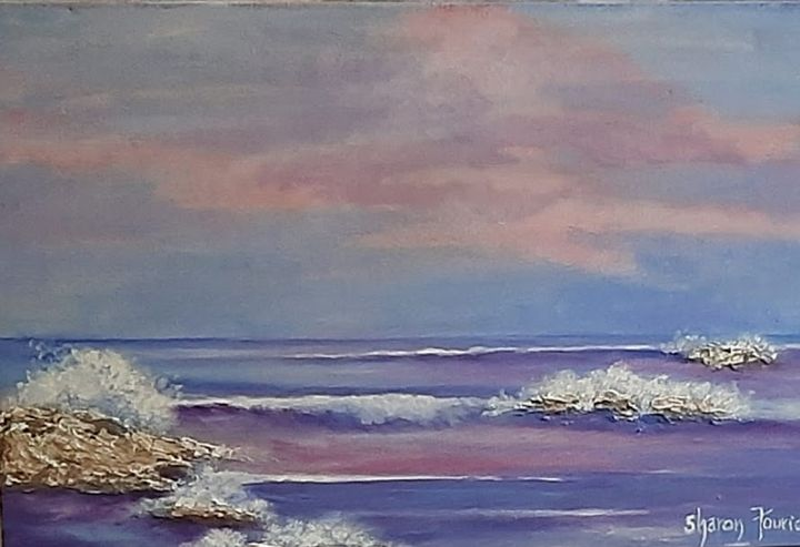 The sea and the rocks - Fourie Colle - SA Colour Creations