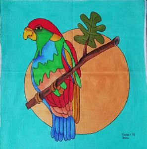 Fabric Painting - Parrot (BLUE)