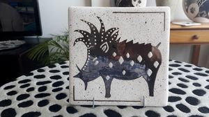 Hand-painted Decorative Tile - Wart