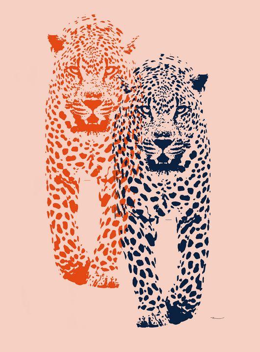 Seeing Double Leopard - Kristen Baker