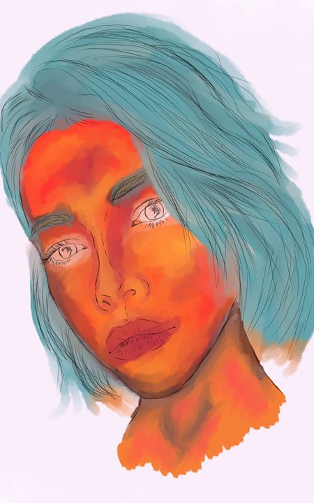 Colorful Woman - Art and stuff