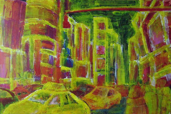 Abstract Times Square - Seda Akkum