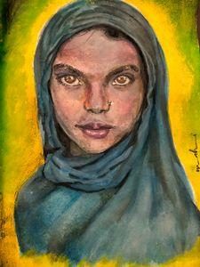 Girl in a Blue Hijaab
