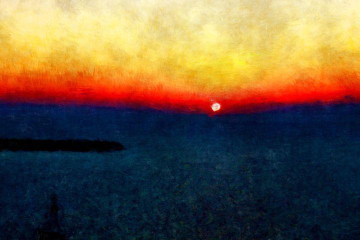 burning sunset - LeoVart