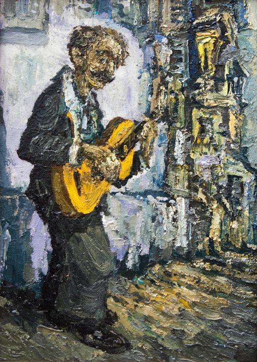 street musician - guitar - LeoVart
