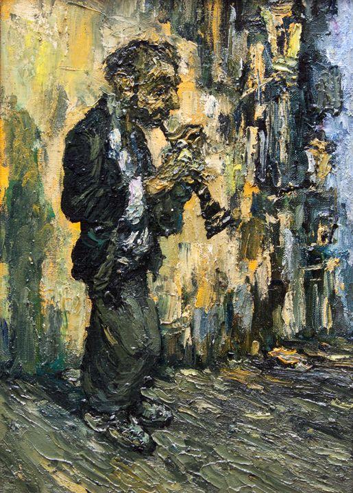 street musician - clarinet - LeoVart