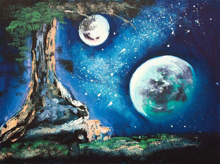 original oil painting, magical lands - LeoVart