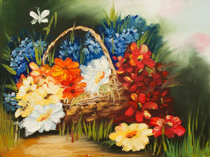 original oil painting, spring mood - LeoVart