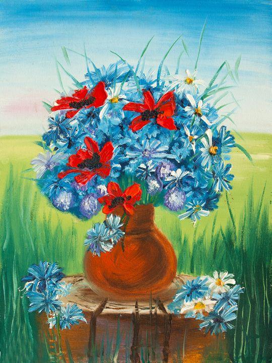 garden flowers - LeoVart