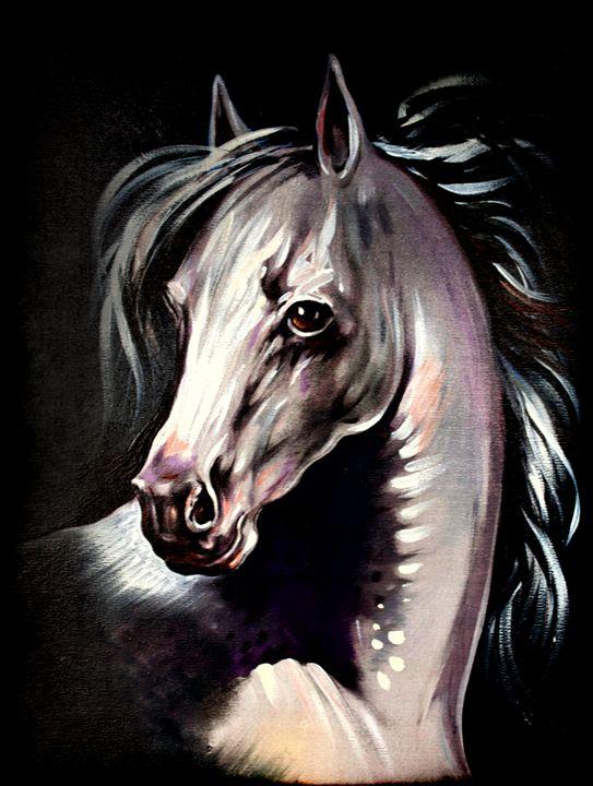 white magic horse - LeoVart