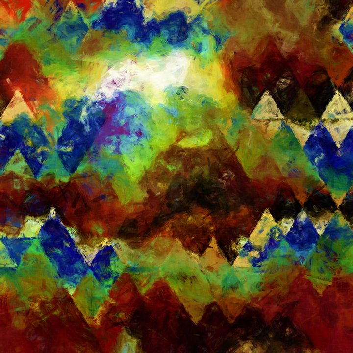 triangle geometry painting - LeoVart