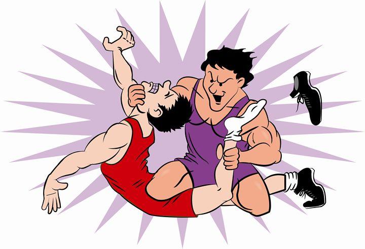 Wrestling Power - Dave's Cartoons