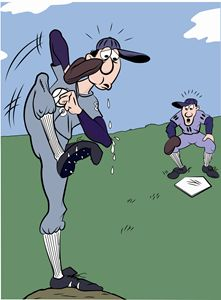 Baseball Player Cartoon One