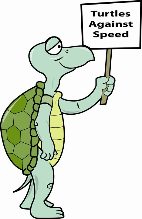 Turtle against speed - Dave's Cartoons