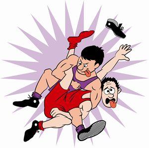Cartoon Wrestler One - Dave's Cartoons
