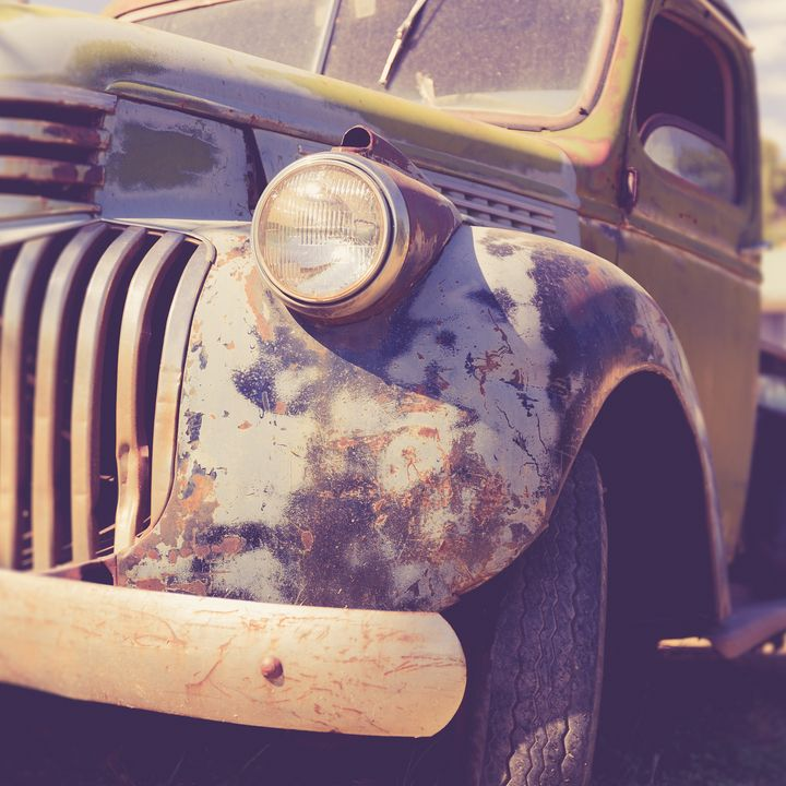 Old Vintage Pickup Truck Utah Square - Dogford Studios