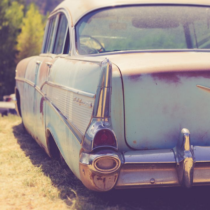 Old 50s Chevy Bel Air Junker Utah - Dogford Studios