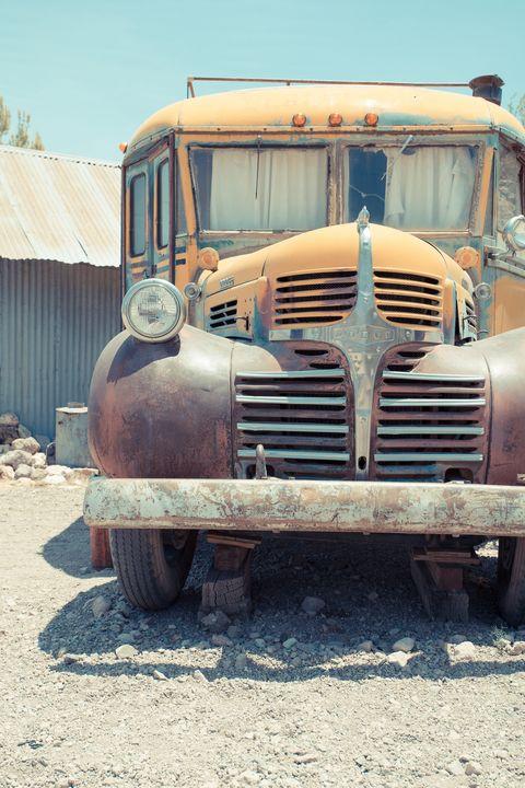 Old Vintage Dodge School Bus Camper - Dogford Studios