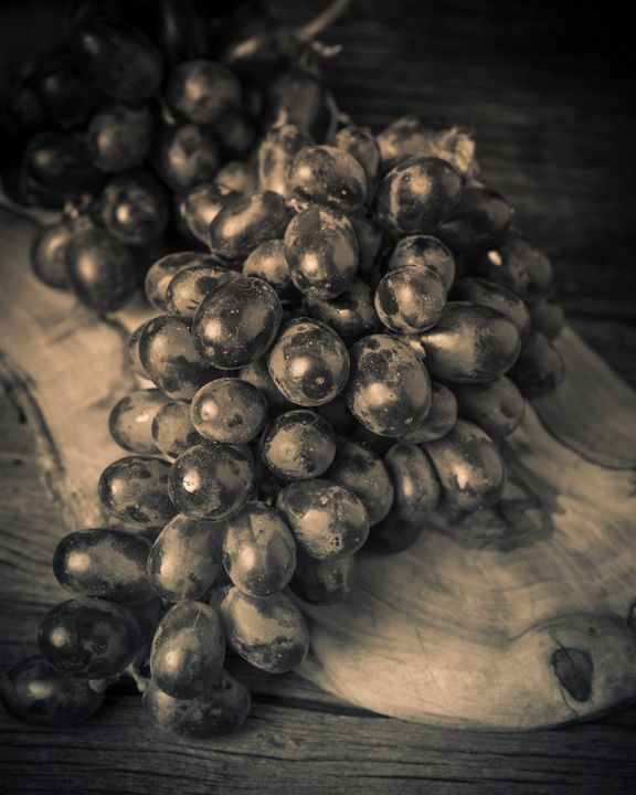 Grapes Still Life with Olive Board - Dogford Studios
